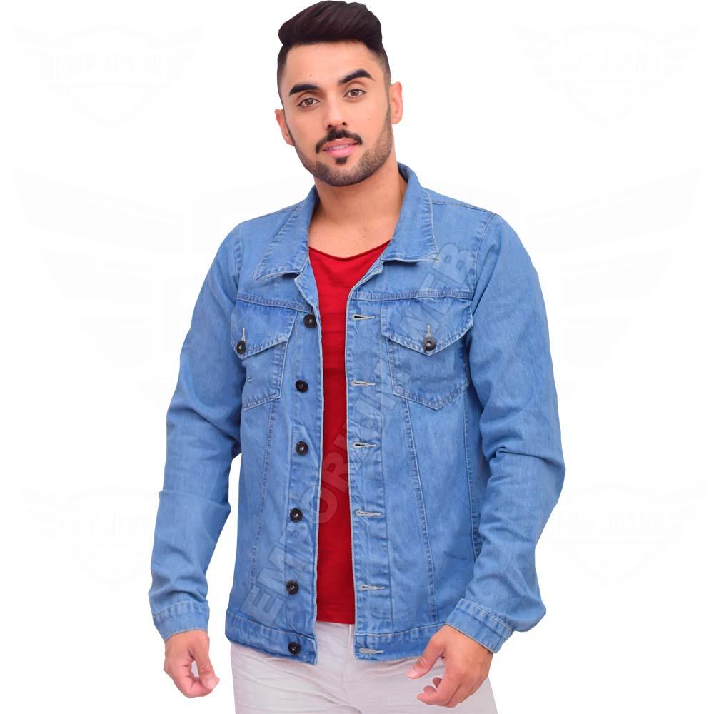 Jaqueta Jeans Masculina Clássica - EWF Jeans - Azul Claro