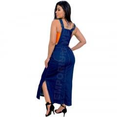 Salopete Jeans Longa - EWF Jeans - Azul Escuro