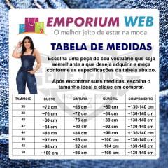 Macacão Longo Jardineira Feminina Jeans Clássica - EWF Jeans - Azul Escuro