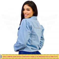 Jaqueta Jeans Manga Princesa / Bufante - EWF Jeans -  Azul Claro