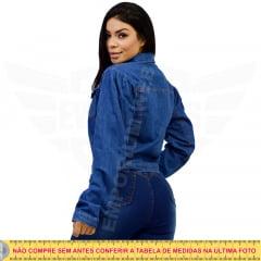 Jaqueta Jeans Manga Princesa / Bufante - EWF Jeans - Azul Escuro