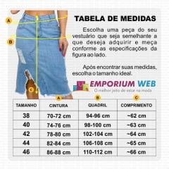 Saia Midi Jeans Destroyed com detalhe rasgado na lateral - EWF Jeans - Azul Claro