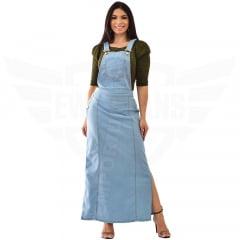 Salopete Jeans Longa - EWF Jeans - Azul Claro